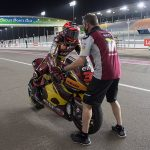 Augusto lines up on the seventh row of the Qatar grid