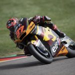Tangle with another rider results in unfortunate DNF in the #GermanGP for Augusto